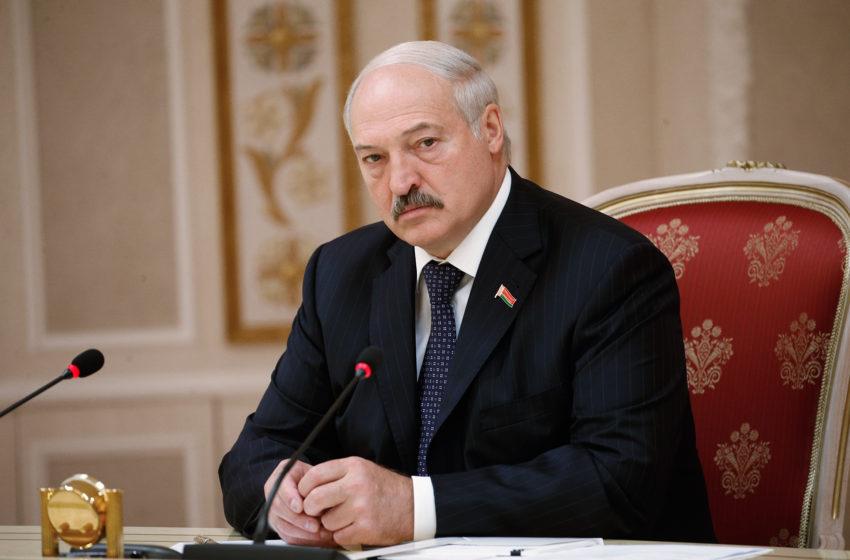А траву покрасили? К приезду Лукашенко в поселок готовы!